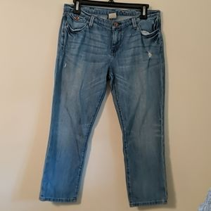 Banana Republic Cropped Distressed Jeans